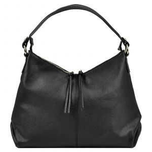 Dámská kožená kabelka Vera Pelle Kvenda – černá
