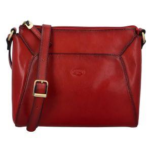 Dámská kožená crossbody kabelka tmavě červená – Katana Baylei červená
