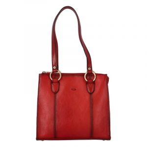 Dámská kožená kabelka přes rameno tmavě červená – Katana Lenna červená
