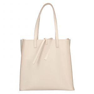 Dámská kožená 2v1 kabelka Facebag Liana – béžová