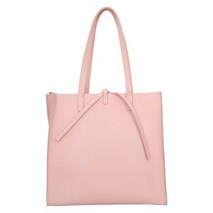 Dámská kožená 2v1 kabelka Facebag Liana – růžová