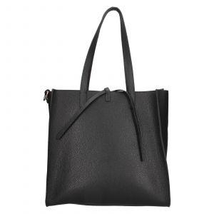 Dámská kožená 2v1 kabelka Facebag Liana – černá