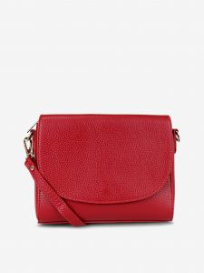 Červená dámská kožená crossbody kabelka KARA