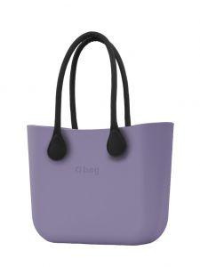 O bag kabelka Lila s černými dlouhými koženkovými držadly