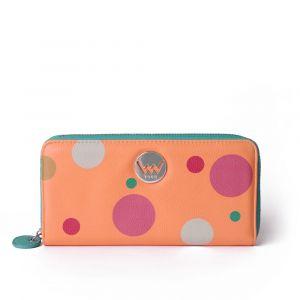 Tyrkysovo-oranžová dámská malá vzorovaná peněženka VUCH Rumi