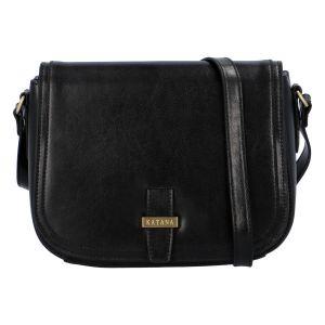 Dámská kožená crossbody kabelka černá – Katana Loisei černá