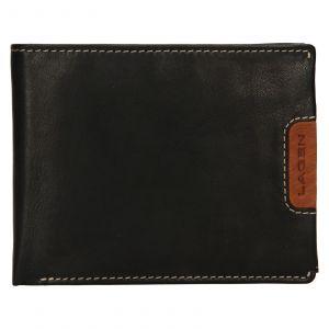 Pánská kožená peněženka Lagen Koudy – černo-hnědá