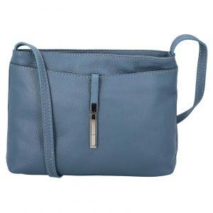 Dámská crossbody kožená kabelka Delami Serena – modrá