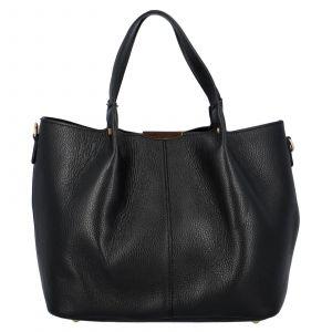 Dámská kožená kabelka Delami Verona – černá