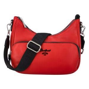 Dámská kabelka přes rameno červená – David Jones Bouty červená