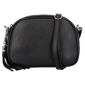 Dámská crossbody kožená kabelka Delami Beate – černá