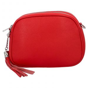 Dámská crossbody kožená kabelka Delami Beate – červená