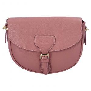 Dámská crossbody kožená kabelka Delami Nisca – růžová