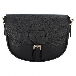 Dámská crossbody kožená kabelka Delami Nisca – černá