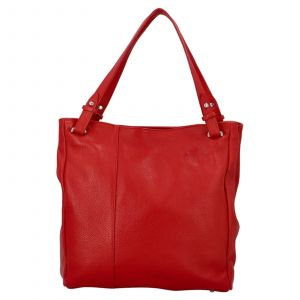 Dámská kožená kabelka Delami Vildea – červená
