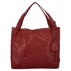Dámská kožená kabelka Delami Camilla – tmavě červená