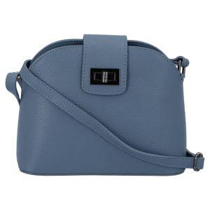 Dámská crossbody kožená kabelka Delami Lisse – modrá