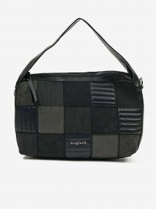 Černá kostkovaná kabelka Desigual
