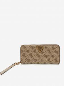 Světle hnědá dámská vzorovaná peněženka Guess