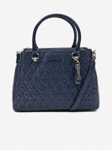 Tmavě modrá dámská vzorovaná prošívaná kabelka Guess