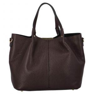 Dámská kožená kabelka Delami Verona – tmavě hnědá