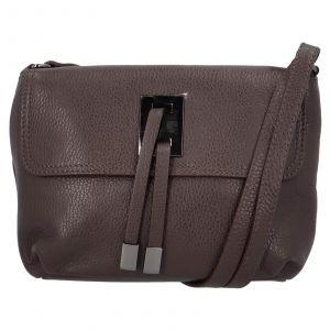Dámská crossbody kožená kabelka Delami Salina – tmavě hnědá